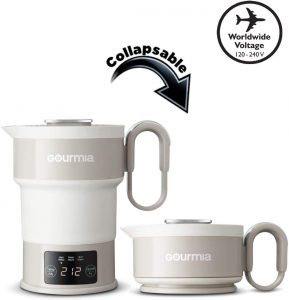 Gourmia GDK368 Digital Electric Collapsible Travel Kettle
