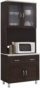 Hodedah Kitchen Pantry Cabinet with drawer