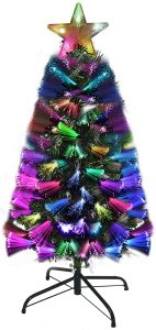 Prelit Artificial Tree with 100 Multi Color LED Lights
