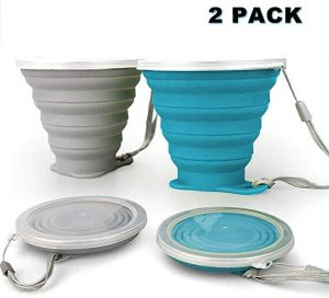 Drinking Cup Set BPA Free Reusable Portable Graduated for Outdoor Hiking Travel