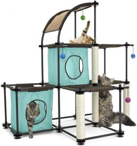 Cat tree house for outdoor and indoor