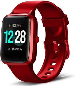 "Music Control IP68 Water Resistant with 1.3"" Color Touch Screen Activity Tracking Pedometer for Women Men Kids"
