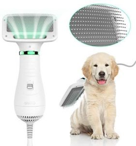2 in 1 Home Pet Grooming Hair Dryer with Slicker Brush