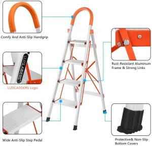 LUISLADDERS-4-Step-Ladder-Folding-Step-Stool-Aluminum-Lightweight-Stepladders-Multi-Purpose-Portable-Folding-Hom