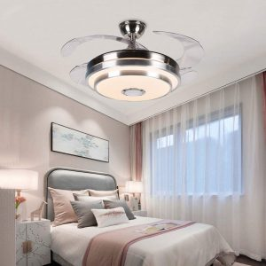Upgraded LED Chandelier lighting with Music Player Function for Living Room Bedroom Restaurant