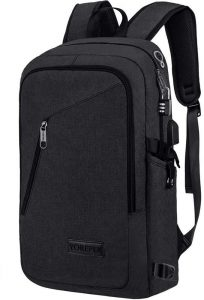 Travel School College Bag with Headphone Port and USB Charging Hole