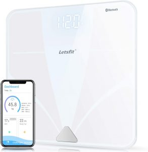 Large Backlit Display Free Smartphone App, Body Composition Analyzer Weight Body Fat BMI Muscle Bone Water Weight