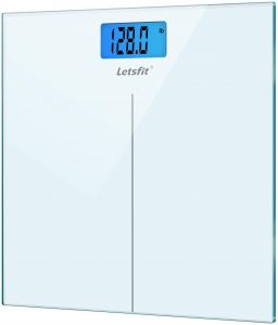 Step-On Technology Digital Bathroom Scale | High Precision Measurements scale of 400 Pounds & 180kg Max