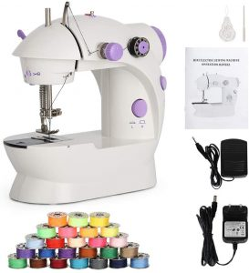 Liheya Sewing Machine Electric Mini Embroidery Machine Portable Sewing Kit with Dual Speed Double Thread