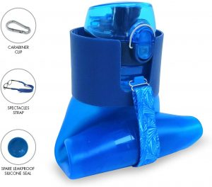 Makooz Collapsible Water Bottle Bpa Free Food-Grade Silicone-Leak Proof