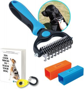 Pet Grooming Tool Suitable for All Dogs and Cats, Safe and Easy to Use & Clean, Detangles Long and Short Hair
