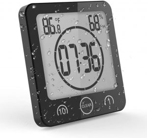 OCEST Digital Bathroom Shower Kitchen Clock Timer