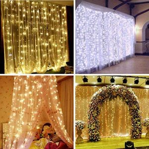 Color Change Curtain String Lights
