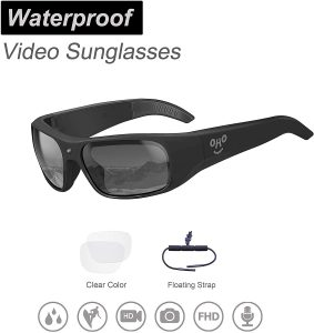 OhO sunshine Waterproof Video Sunglasses, 1080P Full HD Video Recording Camera