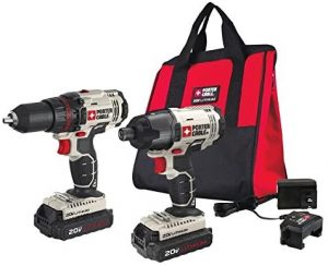PORTER-CABLE 20V MAX Cordless Drill Combo Kit and Impact Driver, 2-Tool