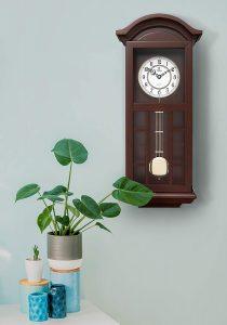 Pendulum-Wall-Clock-Battery-Operated-Quartz-Wood-Pendulum-Clock-Silent-Large-Dark-Wooden-Design-Decorative-Wall-Clock