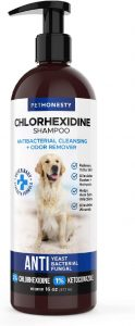 Treats Itching, Hot Spots, Ringworm, Pyoderma & Allergies, Anti-Odor Dog Shampoo