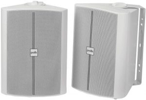 2-Way Indoor/Outdoor Speakers with Powerful Bass, Easy to Install & Rust-Proof Grille