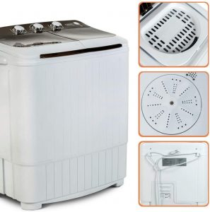 Portable-Washing-Machine-KUPPET-16.5lbs-Compact-Twin-Tub-WashSpin-