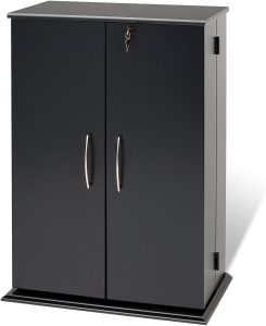 Prepac Locking Media Storage Cabinet, Black