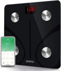 Digital Bathroom Wireless Weight Scale, Body Composition Analyzer with Smartphone App 396 lbs - Black