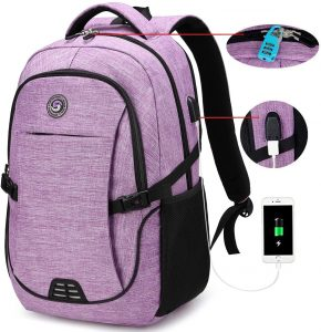 Travel Backpacks with usb Charging Port for Women Fits 15.6 Inch Laptop