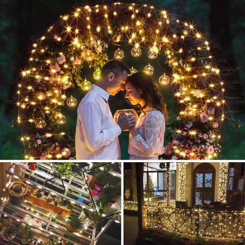 SUNNEST-Window-Curtain-String-Light-300-LED-8-Lighting-Modes-Fairy-Lights-Remote-Control-USB-Powered-Waterproof-Lights-for-Christmas-Bedroom-Party-Wedding