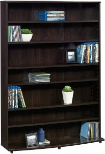 Sauder Multimedia Storage Tower, Cinnamon Cherry finish