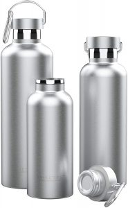 water bottle with attached lid