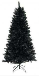 black christmas tree star