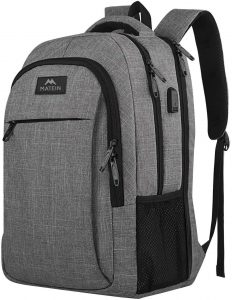 Business Anti Theft and Durable Laptops Backpack with USB Charging Port