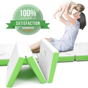 Ultra Soft Folding Mattress with Removable Washable Cover, Foldable, Portable & Compact