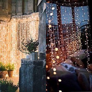twinkle star 300 led window curtain string light