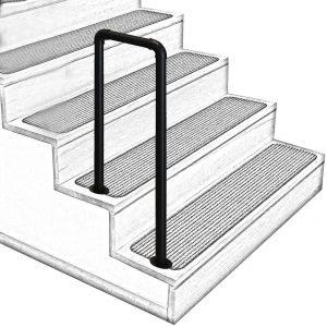 Wrought Iron Stair Handrail