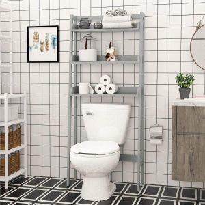 UTEX 3-Shelf Bathroom Organizer Over The Toilet, Bathroom Spacesaver