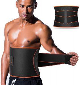 Wide Men Waist Trainer, Sweat AB Belt with Adjustable Pressure Straps