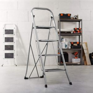 Portable Step Ladder with 330lbs Capacity and Anti-Slip Feet