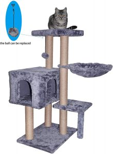 WIKI Cat Tree Scratching Toy Activity Centre Cat Tower