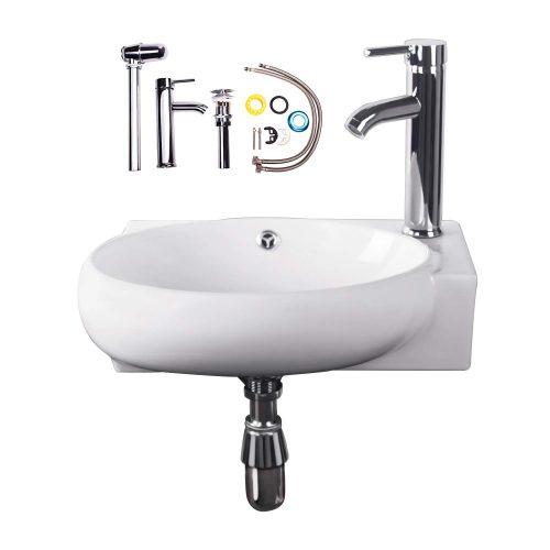 Walcut-Wall-Mount-Corner-Bowl-Sink-Bathroom-Vessel-Sink