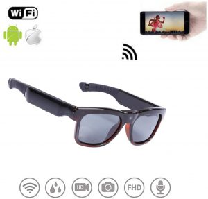 WiFi Live Streaming Video Sunglasses, Streaming Videos & Photos from Glasses to Mobile Phone