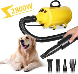 Stepless Adjustable Speed Dog Hair Dryer