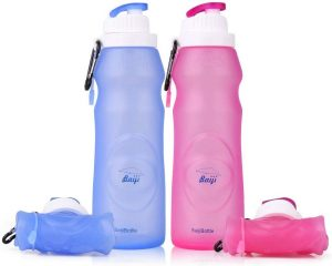 baiji bottle ll120 Silicone Water Bottles Sports Camping Canteen