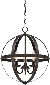 Indoor Chandelier Lighting Oil Rubbed Bronze Finish with Highlights