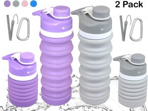 lucky green Collapsible Water Bottles-BPA Free