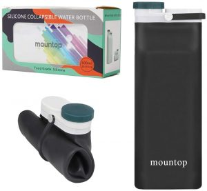 mountop Collapsible Silicone Water Bottle