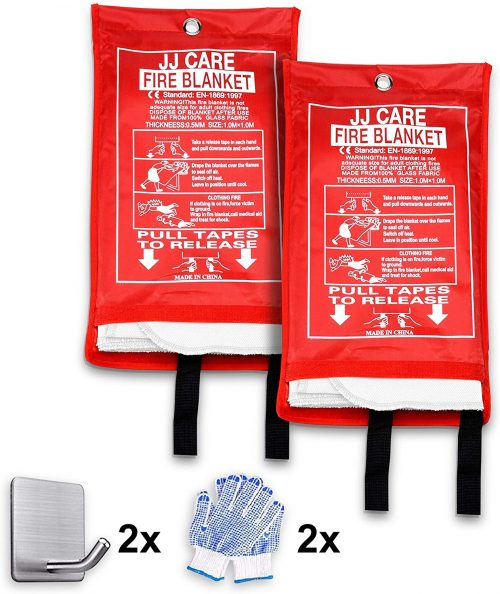 Fire Suppression Blanket with Fire Protective Gloves