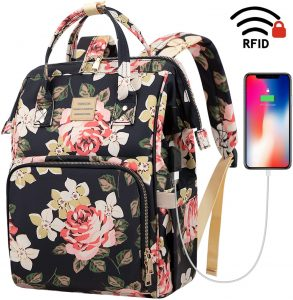 Water Resistant Casual Daypack Laptop Backpack for Women