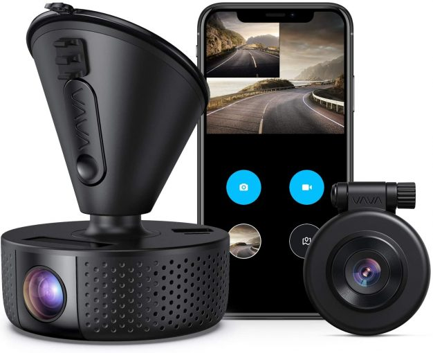 VAVA Dual Dash Cam, Night Vision, G-Sensor, Loop Recording, WDR
