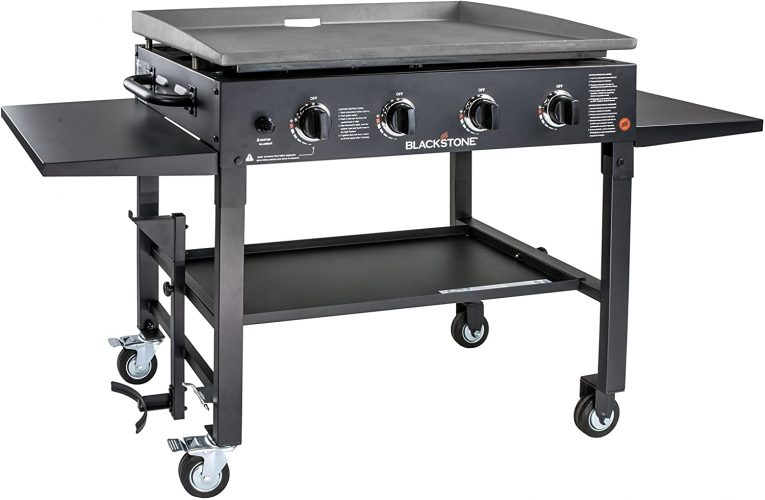 Blackstone 1554 Station-4-burner-Propane, Professional, Outdoor Flat Top Gas Grill Griddle Station