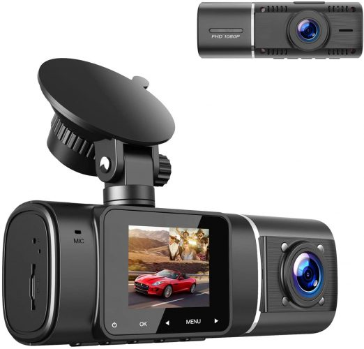 TOGUARD Dual Dash Cam With Night Version And Recorder For Cars, Taxi, Uber